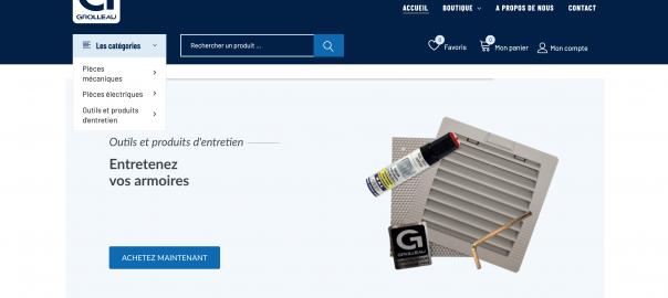 Site de vente en ligne de pièces détachées - Grolleau