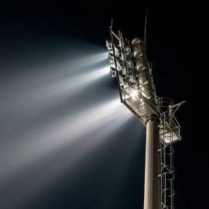 Éclairage de stade