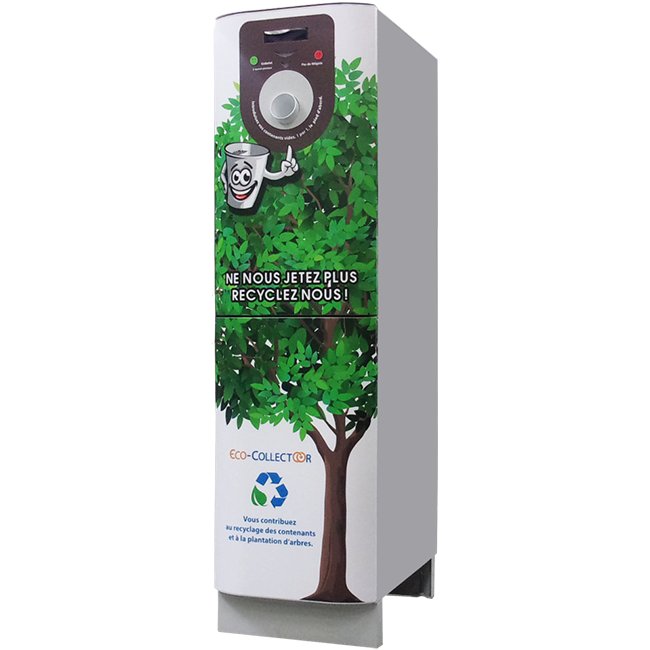Eco Collectoor recyclage gobelet machine café