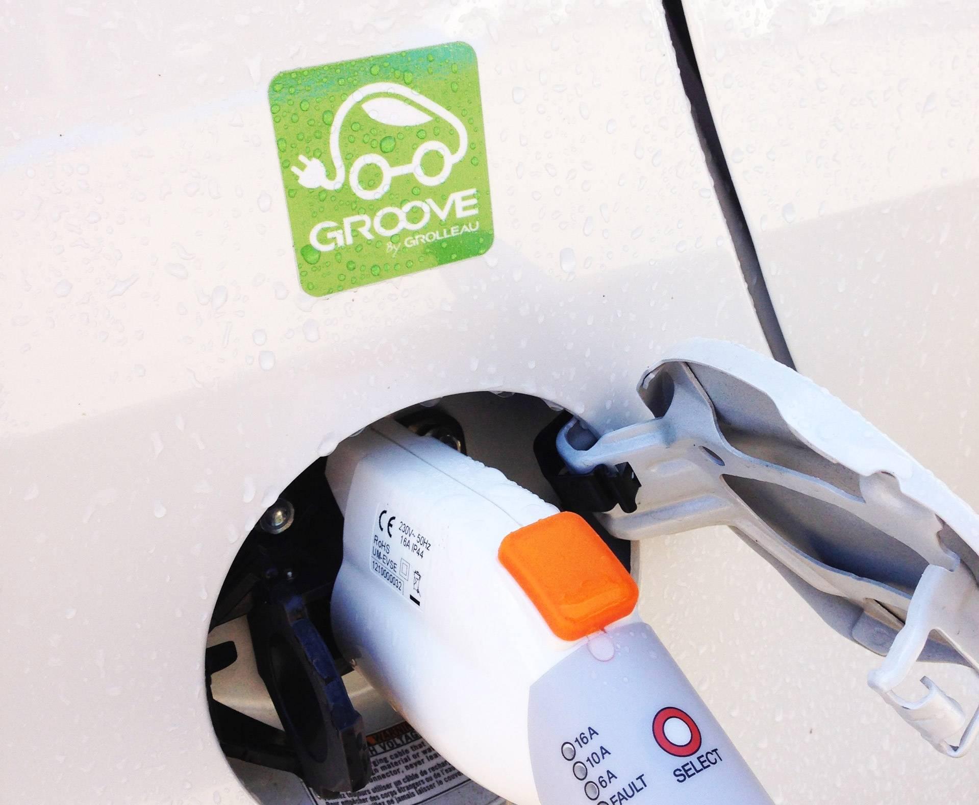 Logo Groove borne recharge véhicule électrique